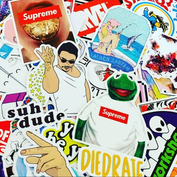 5 Mystery//Radom supreme stickers